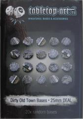25mm Round Base - Dirty Old Town