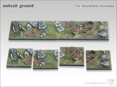 40mm Square Diorama Base - Undead Ground