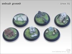 30mm Round Base w/Lip - Undead Ground