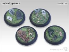 40mm Round Base w/Lip - Undead Ground