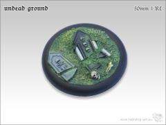 50mm Round Base w/Lip #1 - Undead Ground