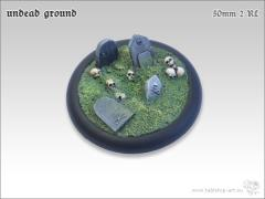 50mm Round Base w/Lip #2 - Undead Ground
