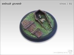50mm Round Base w/Lip #3 - Undead Ground