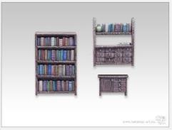 Bookshelf & Commode Set
