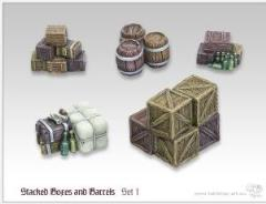 Stacked Boxes and Barrels #1