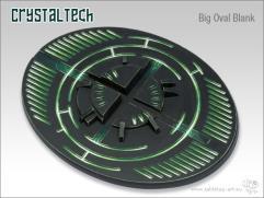 90x110mm Oval Base - Crystal Tech, Blank