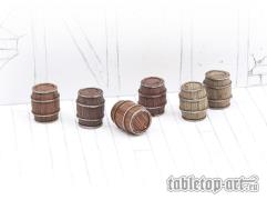 Wooden Barrels Set #1 - Small Barrels