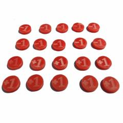 +1/-1 Counters - Red