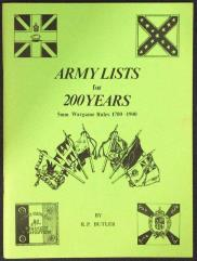 Army Lists for 200 Years