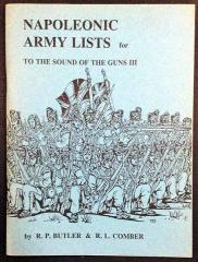 Napoleonic Army Lists for To the Sound of the Guns III