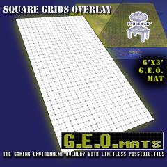 "6' x 3' GEO Mat - 1"" Square Grid in Black"