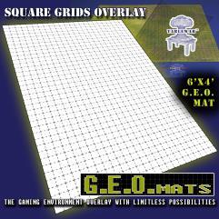 "6' x 4' GEO Mat - 1"" Square Grid in Black"