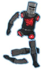 Black Knight Refrigerator Magnet