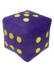 "6 Sided Die Plush 8"" Purple w/Gold"
