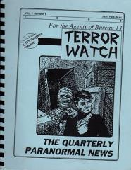 "Terror Watch #1 ""Contacts of the Bureau, Adventure Generation"""
