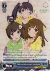 Promo Card - Tsukihi Araragi & Karen Araragi & Nadeko Sengoku