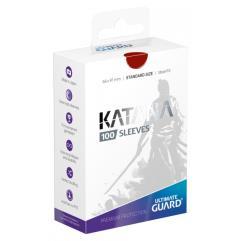 Katana Card Sleeves - Red (100)