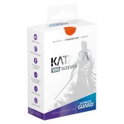 Katana Card Sleeves - Orange (100)
