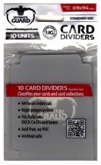 69mm x 94mm Card Dividers - Clear (10 Packs of 10)