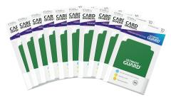 67mm x 93mm Card Dividers - Green (10 Packs of 10)