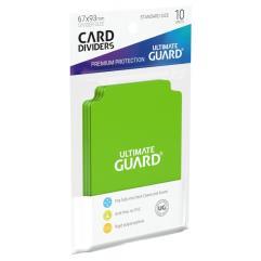 67mm x 93mm Card Dividers - Light Green (10)