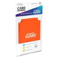 67mm x 93mm Card Dividers - Orange (10)