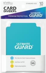 67mm x 93mm Card Dividers - Aqua Marine (10)