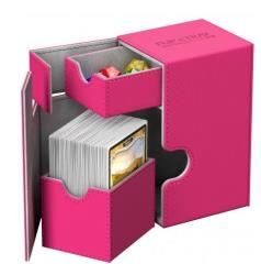 Flip Deck Box w/Tray - XenoSkin, Pink (80+)