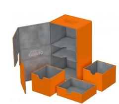 Twin Flip Deck Box x/Tray - XenoSkin, Orange (200+)