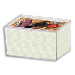 Snap-Lid Deck Box - 100 Count, Clear (10 Pack)