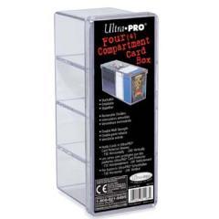 Four Compartment Card Box - Clear