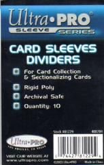 Card Sleeve Dividers (10)