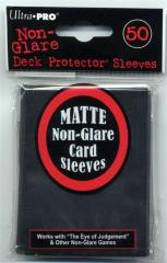 Matte Non-Glare Card Sleeves - Black (10 Packs of 50)