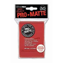 Pro-Matte Non-Glare Card Sleeves - Red (50)