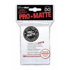 Pro-Matte Non-Glare Card Sleeves - White (50)