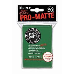 Pro-Matte Non-Glare Card Sleeves - Green (50)