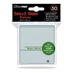 Board Game Card Sleeves - 69mm x 69mm (10 Packs of 50)