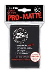 Pro-Matte Non-Glare Card Sleeves - Black (50)