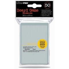 Standard American Board Game Sized Sleeves - Clear (10 Packs of 50)