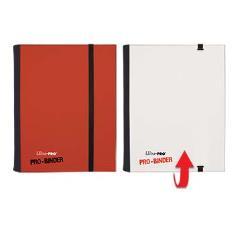 Pro-Binder - 4 Pocket Pages, Red & White Flip (20)
