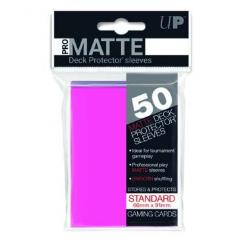 Pro-Matte Non-Glare Card Sleeves - Bright Pink (50)