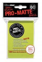 Pro-Matte Non-Glare Card Sleeves - Bright Yellow, Undersized (60)