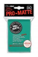 Pro-Matte Non-Glare Card Sleeves - Aqua (50)