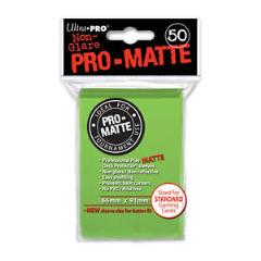 Pro-Matte Non-Glare Card Sleeves - Lime Green (50)