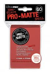 Pro-Matte Non-Glare Card Sleeves - Red, Undersized (60)