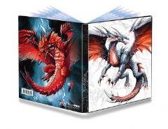 4-Pocket Portfolio - Black & Demon Dragons