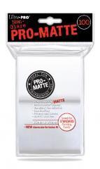 Pro-Matte Non-Glare Card Sleeves - White (100)