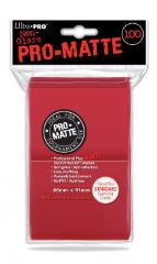 Pro-Matte Non-Glare Card Sleeves - Red (100)