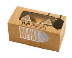 Heavy Metal D20 Dice Set - Antique Bronze (2)