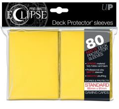 Pro-Matte Eclipse Card Sleeves - Yellow (80)